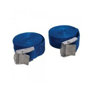 Silverline 449682 - Jeu de 2 sangles à boucle à griffe 2,5 m x 25 mm
