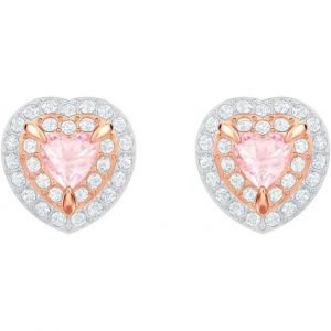 Swarovski Boucles d'oreilles clous One, multicolore, plaqué or rose Gris