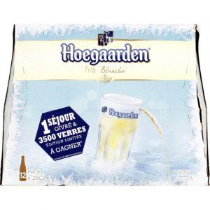 Hoegaarden Bière blanche belge, 4.9% vol. - Les 12 bouteilles de 25cl
