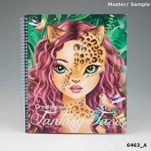 Kontiki Album de coloriage Top Model Create your Fantasy Face