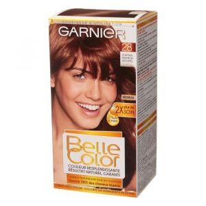 Garnier Belle Color - Coloration permanente Châtain - 28 Châtain marron naturel Lot de 2