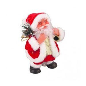 Automate Père Noël qui marche sur place (18 cm)