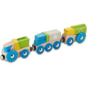 EverEarth Petit Train écolo en Bois Recyclage