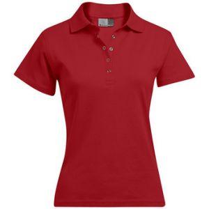 Promodoro Polo interlock Femmes, XL, rouge feu