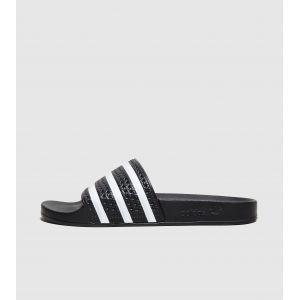Adidas Originals Adilette, Chaussures de Plage & Piscine mixte adulte - Noir (Black/White/Black), 37