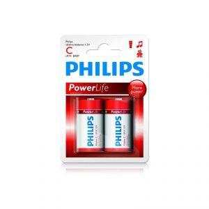 Image de Philips Pack de 2 piles Powerlife LR14 Baby C