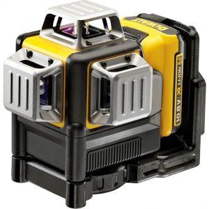 Dewalt DCE089D1R Laser 3X360° Faisceau Rouge 10.8V 2.0Ah Batterie et chargeur