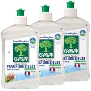 L'Arbre Vert Liquide vaisselle & mains concentré peaux sensibles