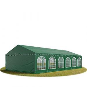 Intent24 TOOLPORT Tente Barnum de Réception 6x12 m PREMIUM Bâches Amovibles PVC 500 g/m² vert fonce + Cadre de Sol Jardin.FR