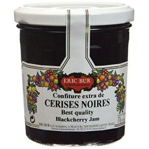 Eric Bur Confiture Extra de Cerises Noires 370 g - Lot de 3