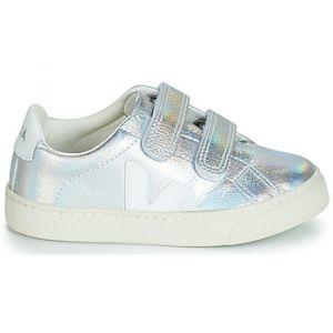 Veja Chaussures enfant ESPLAR SMALL VELCRO Argenté - Taille 30,31,32,34,35