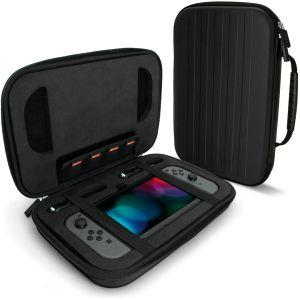 igadgitz U6539 - EVA Étui Housse Pochette Rigide Compatible avec Nintendo Switch - Noir