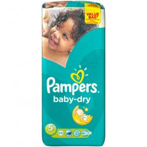 Pampers Baby-Dry taille 5 Junior (11-25 kg) - Value Bag x 50 couches