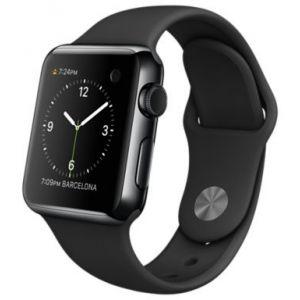 Apple Watch 38 mm - Montre connectée bracelet sport boîtier acier