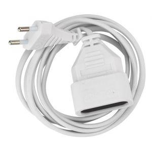 Debflex Rallonge 2 m 6 A blanc - Longueur de câble : 2 m - Section de câble : 0,75 mm² - Intensité : 6 A - Coloris : blanc.