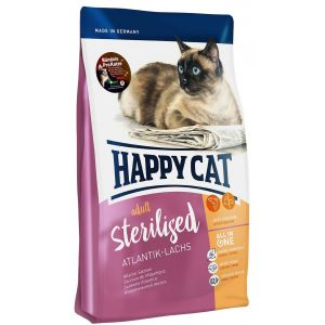 Happy cat 10kg Sterilised saumon de l'Atlantique Supreme - Croquettes pour Chat