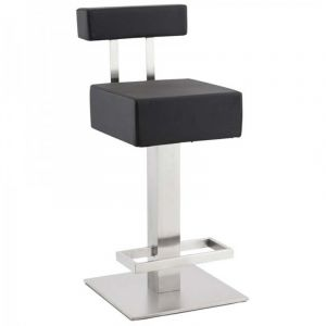 Kokoon Design Tabouret de bar fixe design NOBLE MINI (NOIR)