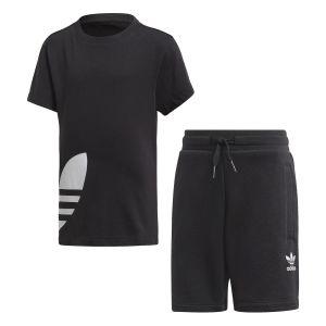 Adidas Ensemble Big Trefoil Originals Noir - Taille 7-8 Ans