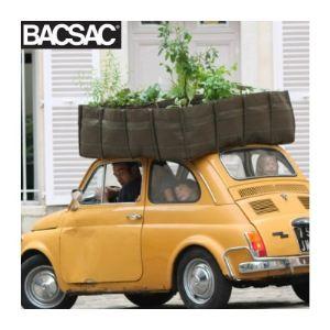 Bacsac BS16 - Jardinière en carré Bacsquare 16 en tissu géotextile 550 L 120 x 120 x 40 cm