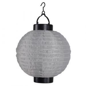 Lanterne chinoise solaire en plastique Ø20cm - Taupe - Lanterne chinoise solaire en plastique - Batterie rechargeable - Diamètre : 20cm - Coloris : taupe.