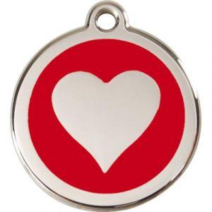 RedDingo Médaille Chien Coeur Rouge 38Mm
