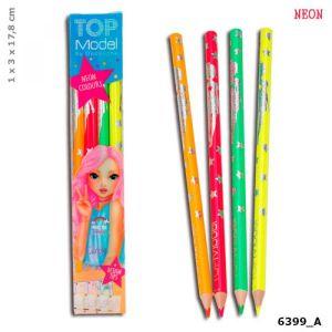 Depesche Top model set 4 crayons neon