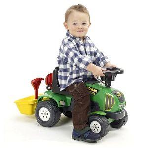 Falk Porteur Tracteur Baby Power Master avec remorque et accessoires (sans pédales)