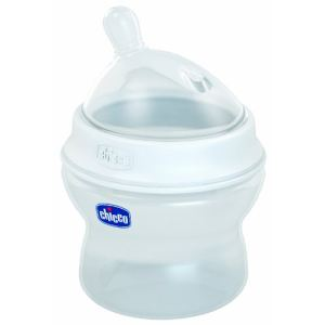Chicco Biberon Step Up 1 en polypropylène 150 ml avec tétine en silicone flux normal (0 mois +)