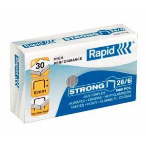 Rapid 24861400 - Agrafes Strong N°26/6 boite de 1000