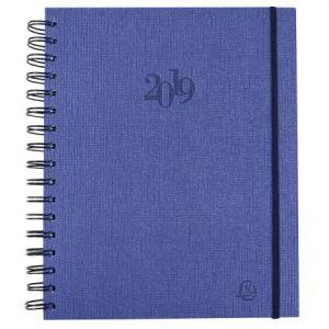 Exacompta 22612E - Agenda journalier La Journée planifiée 22 W Carte Napura, élastique de fermeture, coloris assortis