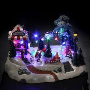 Village de Noël lumineux : Course de voitures