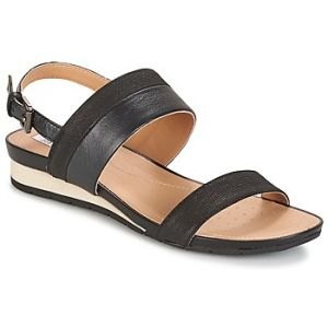 Geox D Formosa C, Sandales Bout Ouvert Femme, Noir (BLACKC9999), 35 EU