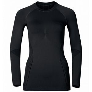 Odlo Evolution T-Shirt Manches Longues Femme, Black/Graphite Grey, FR : XS (Taille Fabricant : XS)