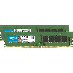Crucial CT2K4G4DFS632A (DDR4, 3200 MT/s, PC4-25600, Single Rank x16, DIMM, 288-Pin) Mémoire - 8 Go Kit (4Go x2)