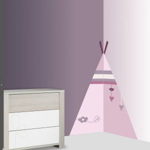 Sauthon Sticker chambre bébé xxl tipi mam'zelle bou
