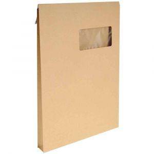 Enveloppe kraft C4 229x324 soufflet 3 cm à fenêtre - Paquet de 50 pochettes