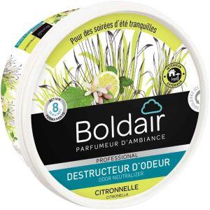 BOLDAIR - Boîte gel destructeur d'odeurs 300g Citronnelle