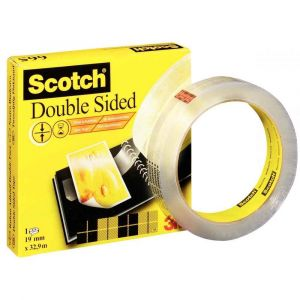SCOTCH - Rouleau scotch double face 19mmx33M