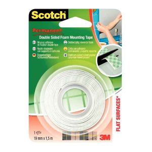 SCOTCH - Rouleau scotch fixation 1,5m 19mm