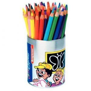 Crayons de couleur gros module coloris assortis - Pot de 48