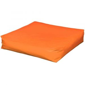 Pouf carré - 120 cm - Orange