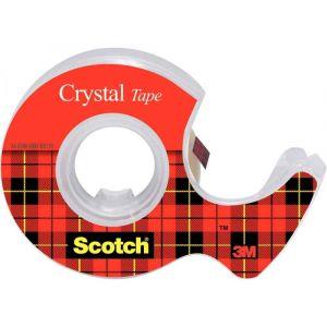 SCOTCH - Rouleau scotch transparent 19x7,5m + devidoire
