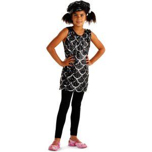 Déguisement Robe Disco Noire - Enfant