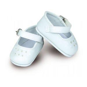 Accessoires pour poupées Minouche 34 cm : Chaussures ballerines à bride coloris blanc - Fille