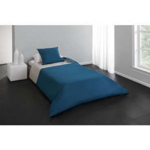 parure lit bleu canard comparer 33 offres. Black Bedroom Furniture Sets. Home Design Ideas