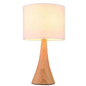 Lampe Bois naturel TOUCH BOIS coloris blanc