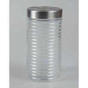 Bocal verre avec couvercle inox H.22 cm STAN