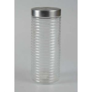 Bocal en verre + couvercle inox H.27 cm STAN