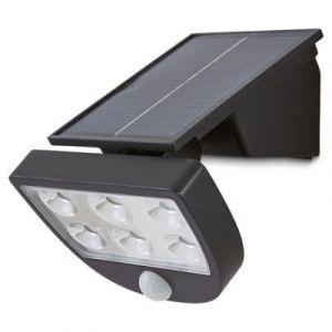 Projecteur à détection solaire LED Blooma Summerside noir IP44