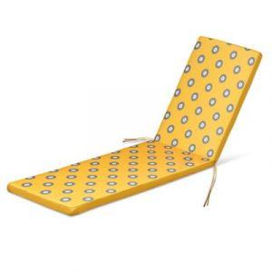 Coussin de bain de soleil Blooma Kinaros jaune à pois